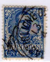 Effigie di Vittorio Emanuele III e ornamenti floreali