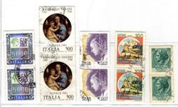Italia 5 coppie verticali tutte diverse, francobolli usati