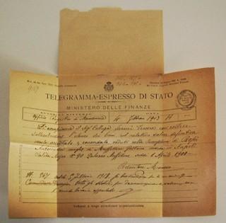 Telegramma - Mod 25 ter 1913