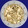 Italia 2 euro Diritti umani 2008