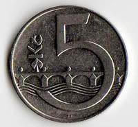 Repubblica Ceca 5 corone 1993
