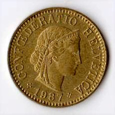 Svizzera 5 centesimi - 1987
