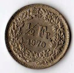 SVIZZERA 1/2 FRANCO - 1970