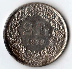 SVIZZERA 2 FRANCHI - 1979