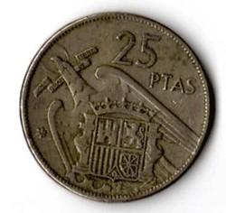 SPAGNA 25 PESETAS - 1957