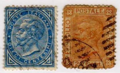 Effigie di Vittorio Emanuele II, serie completa