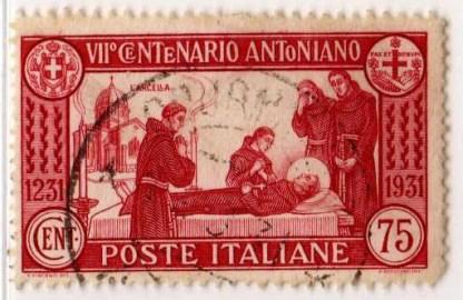 7º centenario della morte di sant'Antonio, 75 Centesimi, 1931