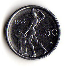 Italia 50 lire mini 1991