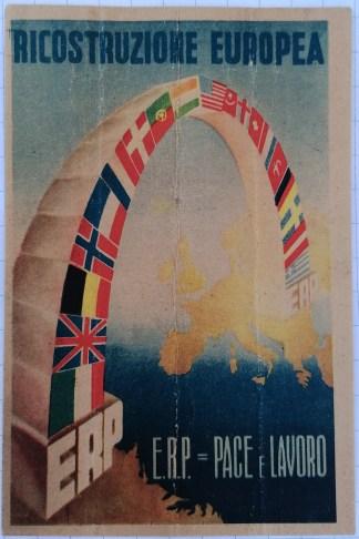 Cartolina postale, ricostruzione europea