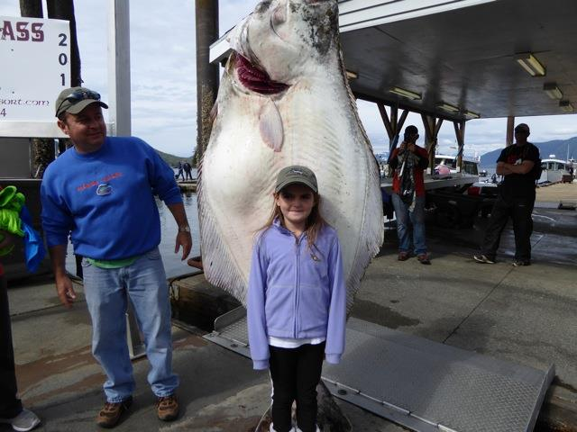 large halibut caught with oasis alaska charters