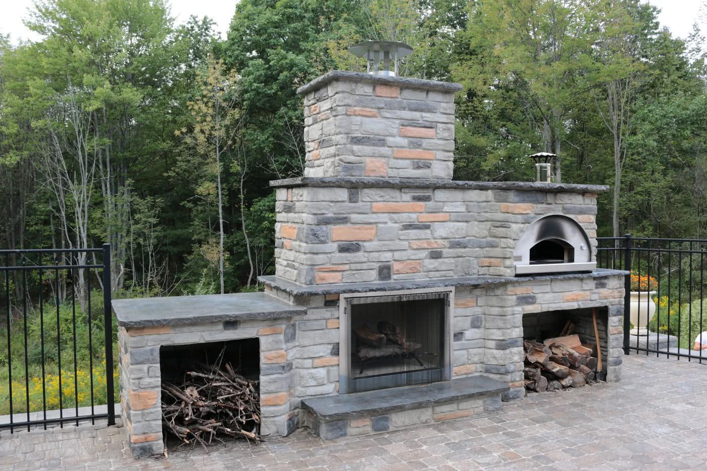 Outdoor Pizza Ovens - Fontana Forni Italian Built Pizza ... on Outdoor Patio With Pizza Oven id=47082