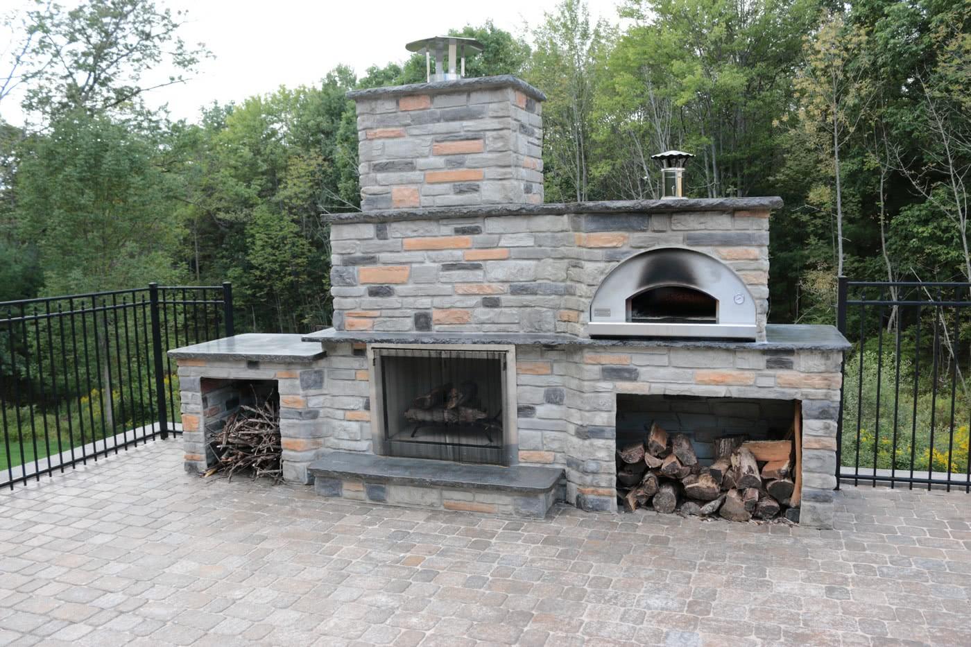 Outdoor Pizza Ovens - Fontana Forni Italian Built Pizza ... on Outdoor Patio With Pizza Oven id=18522