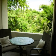 Casa Oasis Troncones Treehouse balcony table view