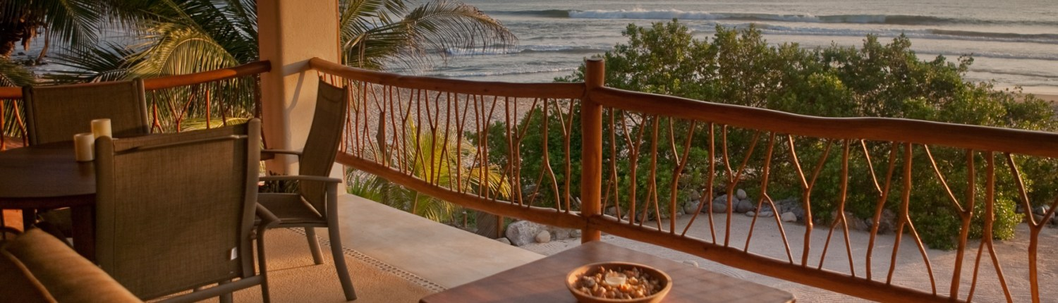 Casa Oasis Troncones beach rental panoramic ocean view