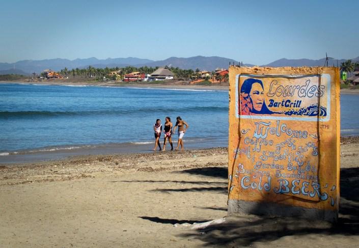 La Saladita Surf beach