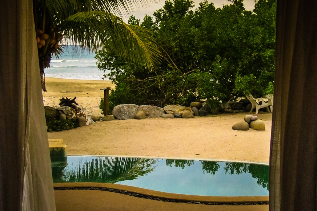 view from Casa Oasis Troncones vacation rental downstairs two bedroom beach house master bedroom