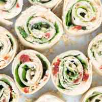 Sun-Dried Tomato, Basil and Spinach Pinwheels