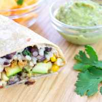 Zucchini Burritos with Special Green Sauce