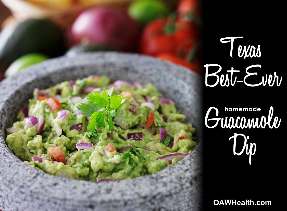 Texas Best-Ever Guacamole Dip Recipe