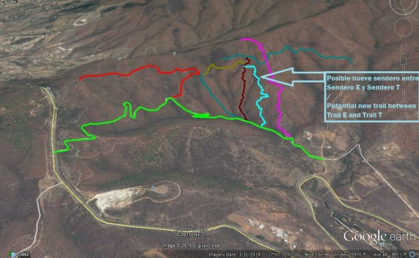GMap Image of Trail _Hoguera and partner trails