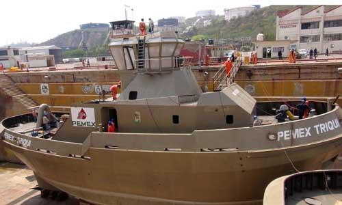 SEMAR construye en Salina Cruz remolcadores con tecnología de punta