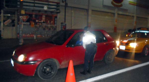 Aplica Santa Lucía operativo alcoholímetro