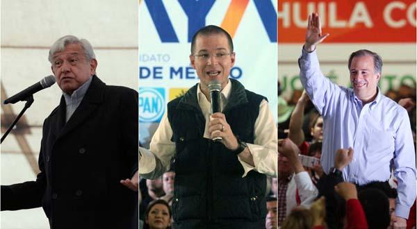 Acaba el primer tiempo electoral y serán candidatos presidenciales: Meade, Anaya y AMLO