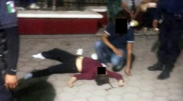 Se lesiona joven tras caer en el parque de Huajuapan