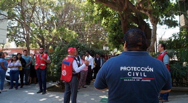 Promueve Gobierno de Oaxaca de Juárez cultura de prevención ante sismos