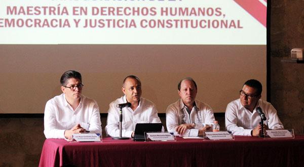 """Inauguran maestría en """"Derechos Humanos, Democracia y Justicia Constitucional"""""""
