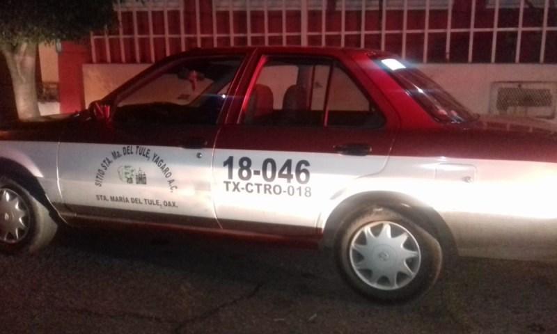 Policía Municipal recupera taxi con reporte de robo