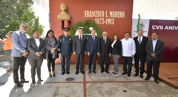 Conmemora Ayuntamiento capitalino CVII aniversario luctuoso de Francisco I. Madero