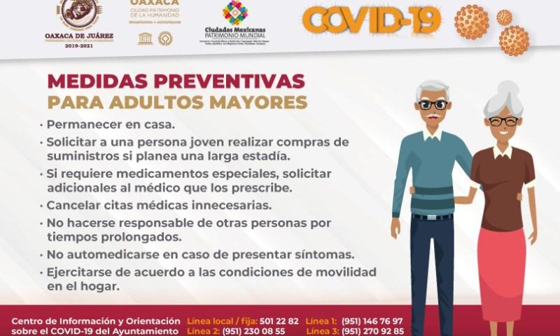 Llama Ayuntamiento capitalino a cuidar a adultos mayores de la pandemia de COVID-19