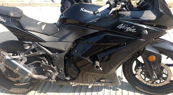 Policía Municipal asegura motocicleta que presuntamente fue robada