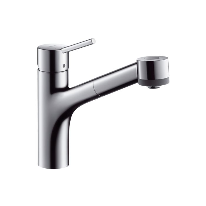 hansgrohe talis s 170 kitchen faucet 32842000 with pull out spray low pressure chrome