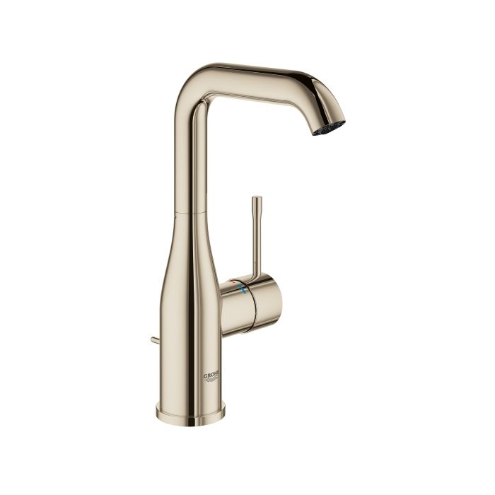 grohe essence faucet l size 32628be1 nickel polished swivel spout