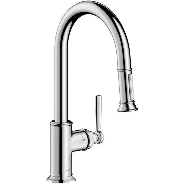 hansgrohe axor montreux kitchen fitting 16581000 chrome pull out spray swivel range adjustable