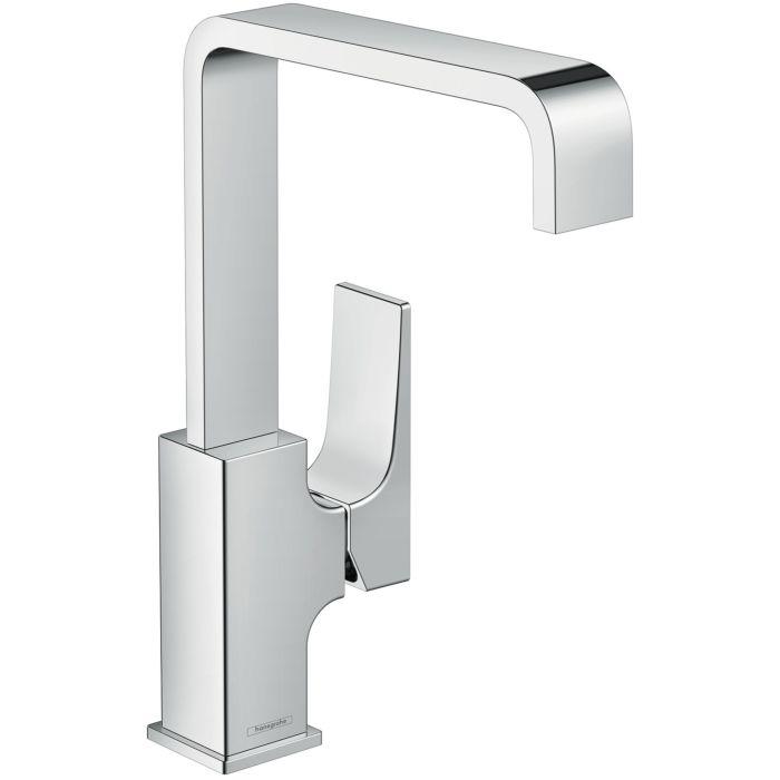 hansgrohe metropol 230 sink faucet 32511000 chrome tongue handle push open waste set