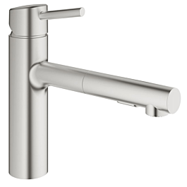 grohe concetto kitchen faucet 30273dc1 supersteel medium high spout