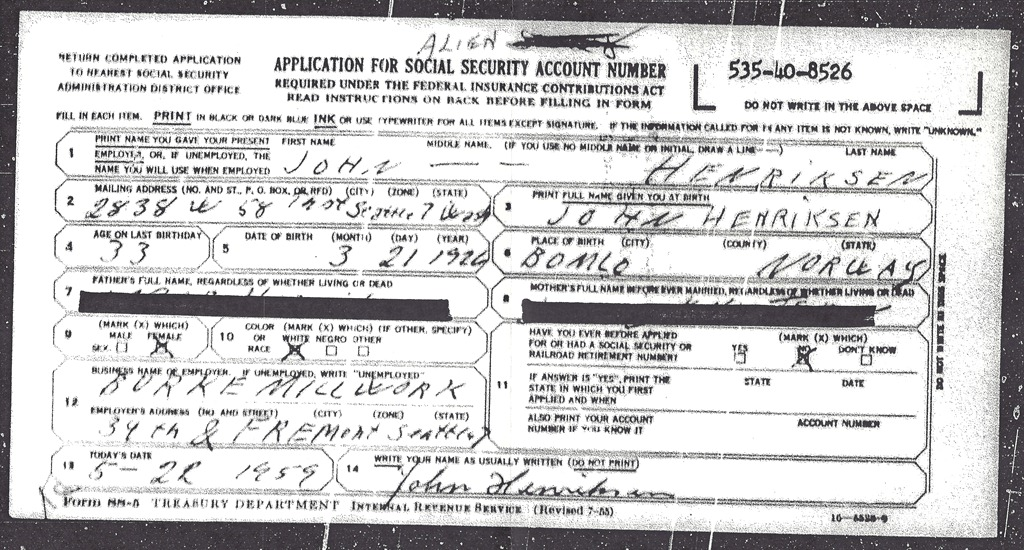 Obamas Mama Had a Fraudulent Social Security Number Too – Social Security Application Form