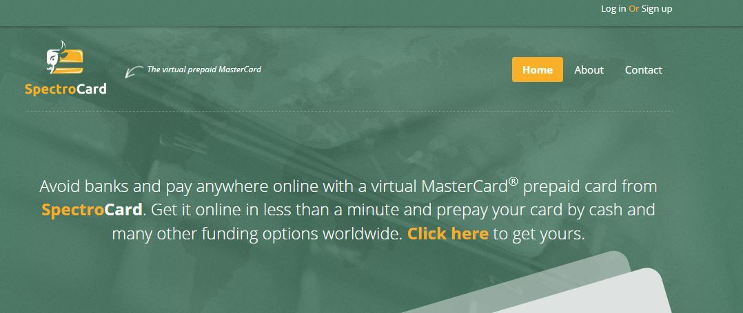 SpectroCard VCC mastercard