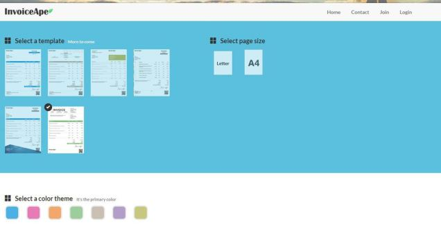 Invoice Ape lets you create an invoice online