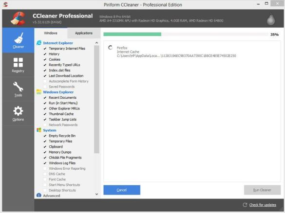 CCleaner software features