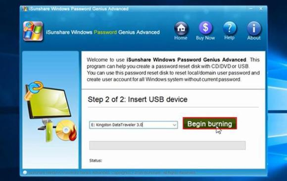 iSunshare Windows Password Genius software tutorials