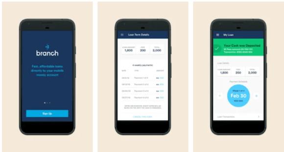 Branch quick Loan app