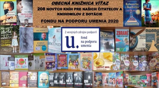 Dotácie FPU pre knižnicu vo Víťaze