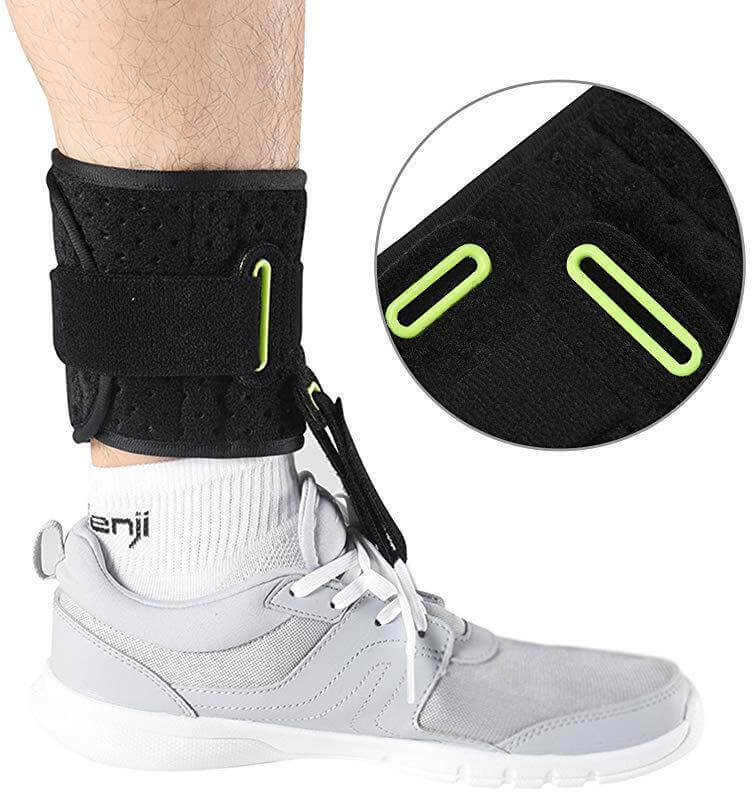 Adjustable Drop Foot Brace for Walking, AFO Brace Foot Drop Orthosis Universal Size