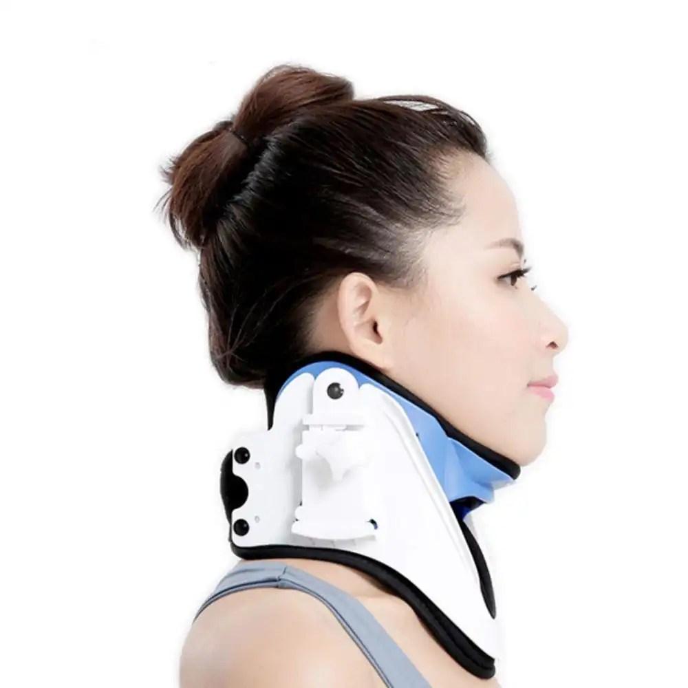 Medical Cervical Vertebra Tractor Neck Brace Support Neck Collar Correct Adjustable Traction Treatment Posture Height OBER NO-16 neck brace Ober Braces