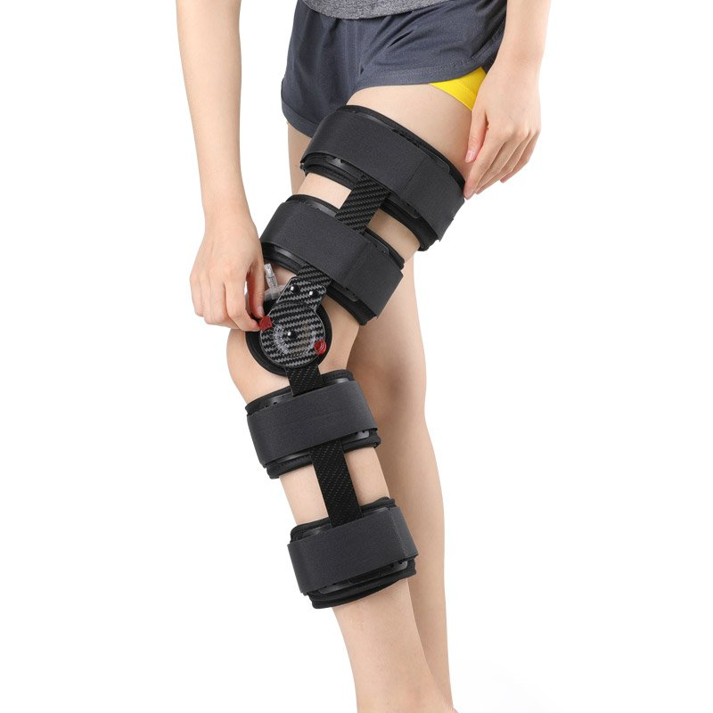 Carbon Fiber Knee Brace Support For ACL PCL MCL Hinged Knee Braces Ober Health 6