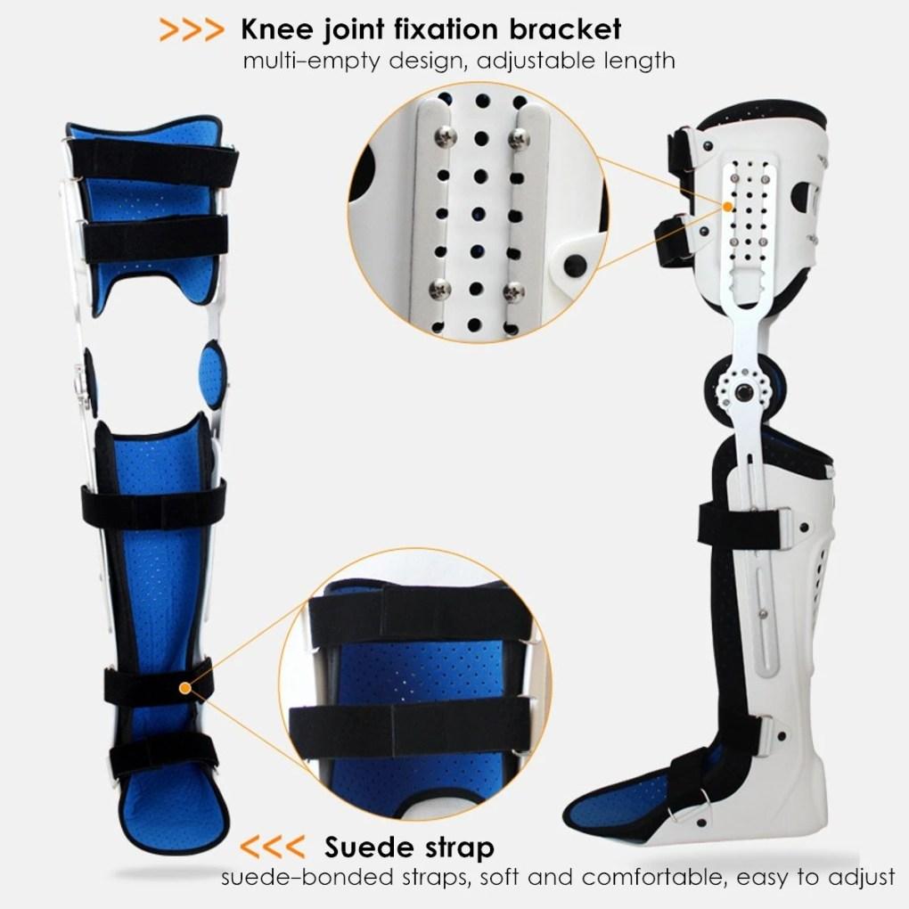 Medical Adjustable Knee Joint Fixed Brace Leg Orthotics Support Hinged Knee Braces Ober Health 15